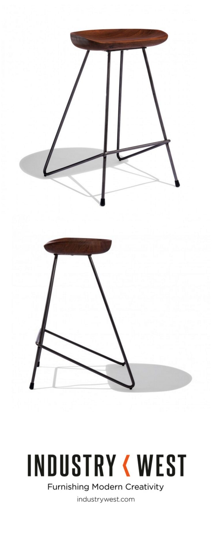 Back in stock! The Svelte Stool's hairpin form is a staple that was popularized during the post-war modern furniture movement Invented by Henry P. Glass in 1941, the hairpin legs are a true war-time innovation born out of necessity, as their design limits the amount of material needed while keeping the strength of traditional legs.