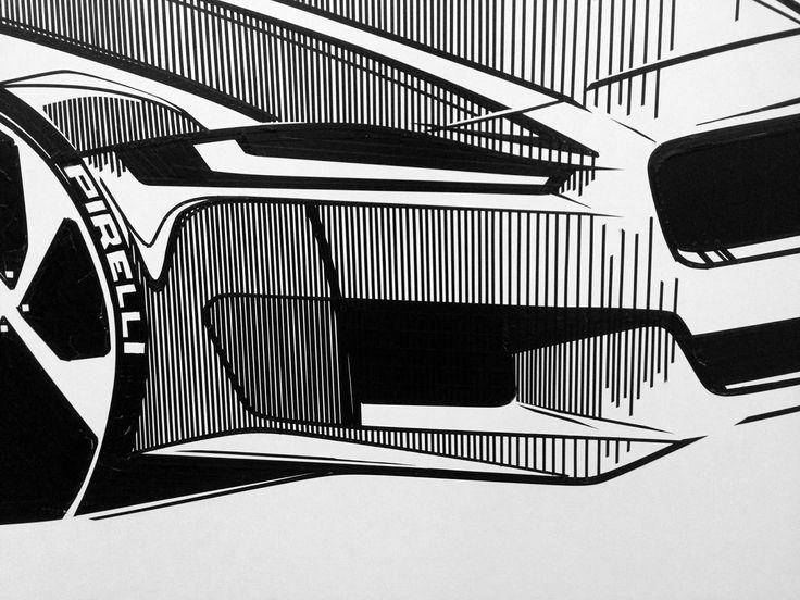 Jaguar XE Tape drawing detail
