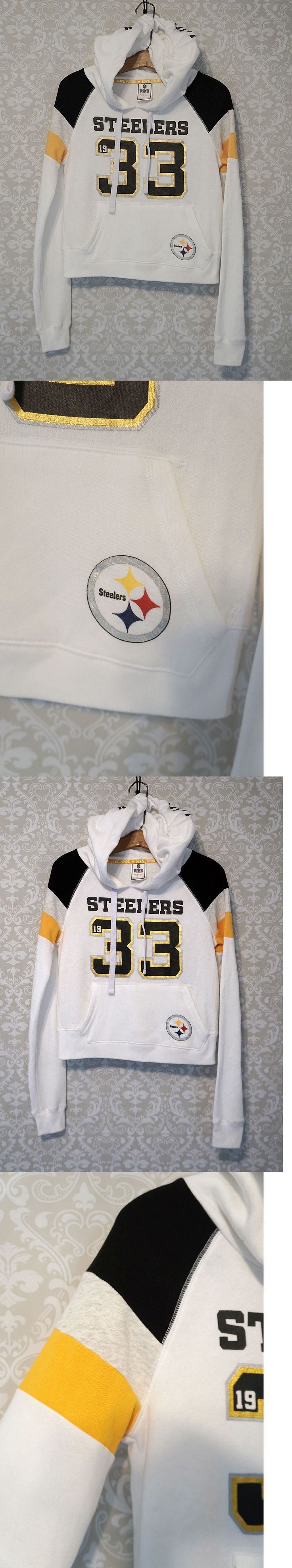 Sweats and Hoodies 155226: Rare | Nfl Steelers Victoria S Secret | Vs Pink | Football Hoodie Sweatshirt | S -> BUY IT NOW ONLY: $38.6 on eBay!