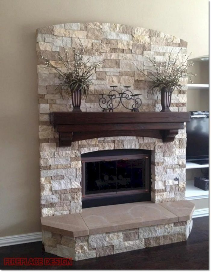 Stone Fireplace, Can You Put Wood Around A Fireplace