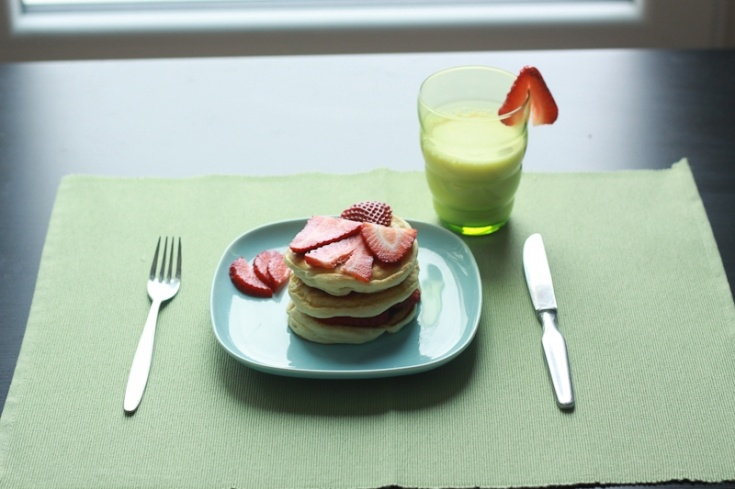 cottage cheese lemon cottage cheese pancakes with strawberries ...