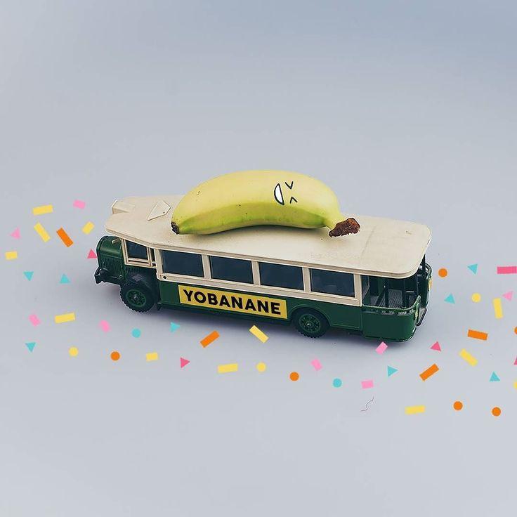 """""""Je prends le bus. Voilà Voilà Je connais la destination hein c'est juste que je peux pas vous le dire !"""" Hervé Yobanane de Réussite  #surprisecestpasbientotnoel #jarrive #banane #Réussite #bus #voyage #yobanane #yobananie #aventure"""