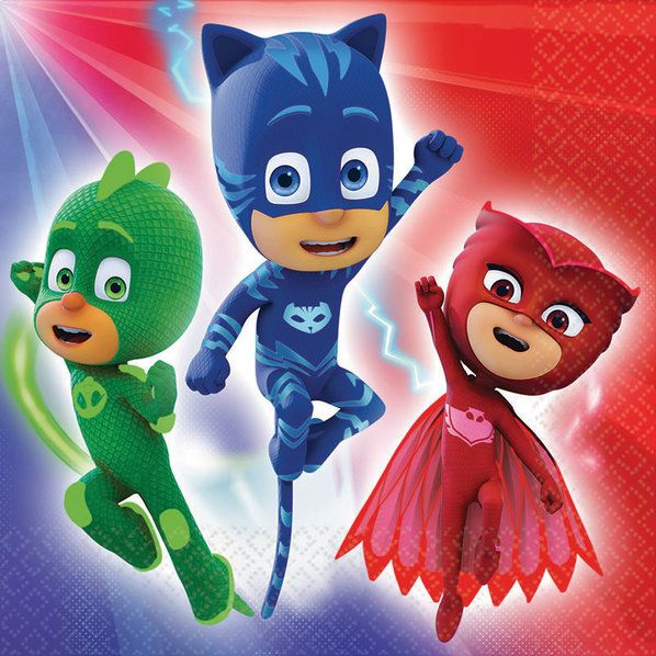 Check out PJ Masks Luncheon Napkins   Pajama Heroes tableware and décor for your next party from Birthday in a Box from Birthday In A Box