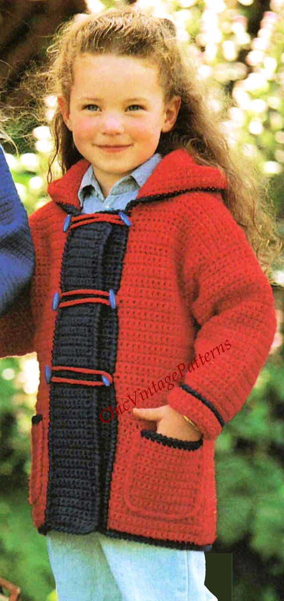 17+ images about sacos crochet ninos on Pinterest Duffle coat, Ravelry and ...