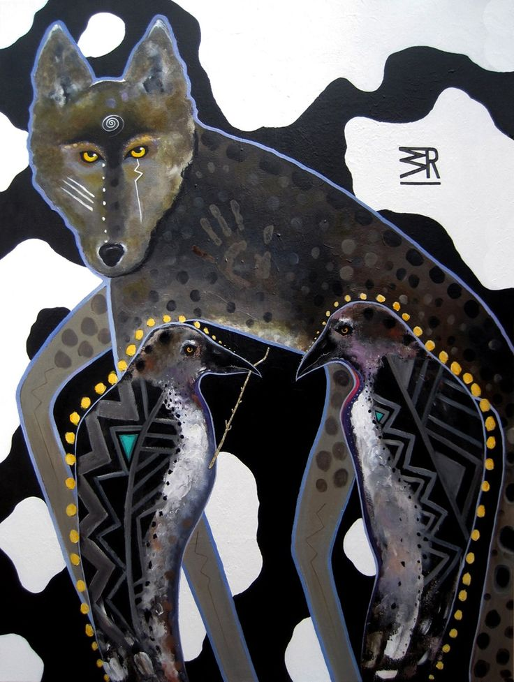 "SOLD: Yuna:Wikko'o / 48"" x 36"" / ©2015 / acrylic on canvas by Virginia Maria Romero / CasaBella Fine Art, Tucson, AZ"