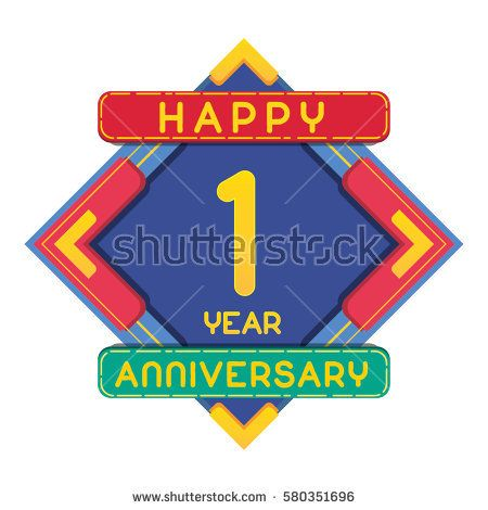 1 Year Anniversary Celebration Design.