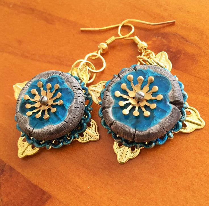 Bluegum blooming earings by GreenfishBluefish on Etsy