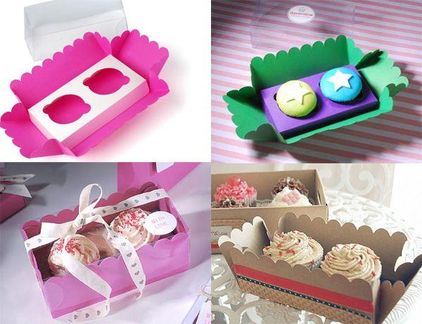 Cajas para cupcakes personalizadas y para montar en casa