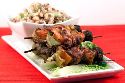 Hoisin Turkey Skewers & Egg Fried Rice - HealthySupplies.co.uk. Recipe Online.