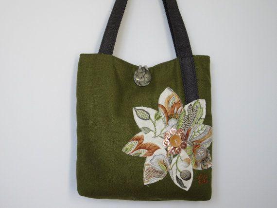 Primavera a spalla Tote Bag borsa verde di BerkshireCollections