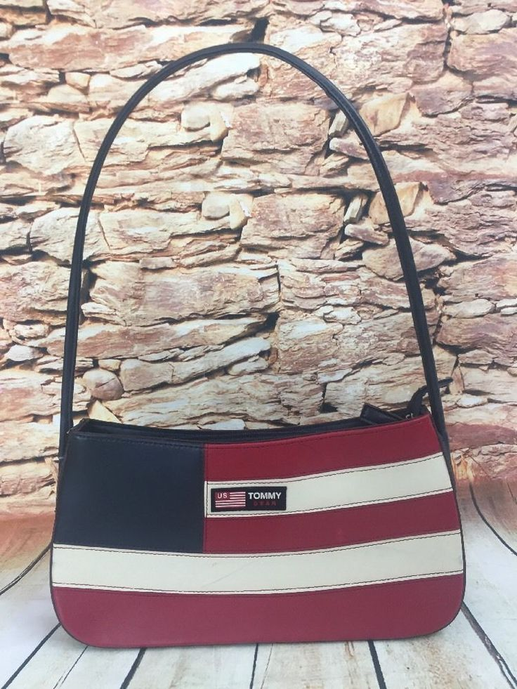Vintage TOMMY HILFIGER Tommy Gear Patriotic Flag Red White Blue Handbag Purse | Clothing, Shoes & Accessories, Women's Handbags & Bags, Handbags & Purses | eBay!