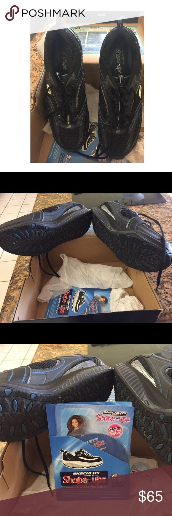 Shape up ladies sneakers X-F women's Shape Ups Sneakers with box, brochure and CD. Worn a few times. Mint condition. Skechers Shoes Sneakers