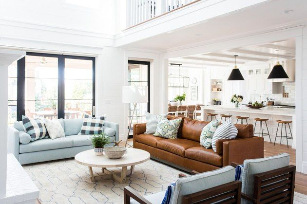 Shea From Studio Mcgee Shares 5 Traditional Living Room Ideas That Don T Feel Dated Hunker Farm House Living Room Living Room Leather Modern Glam Living Room