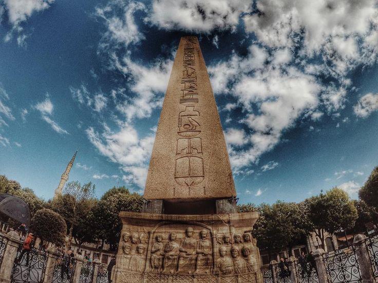 Obelisk of Theodosius (Dikilitaş) Sultanahmet - Istanbul.