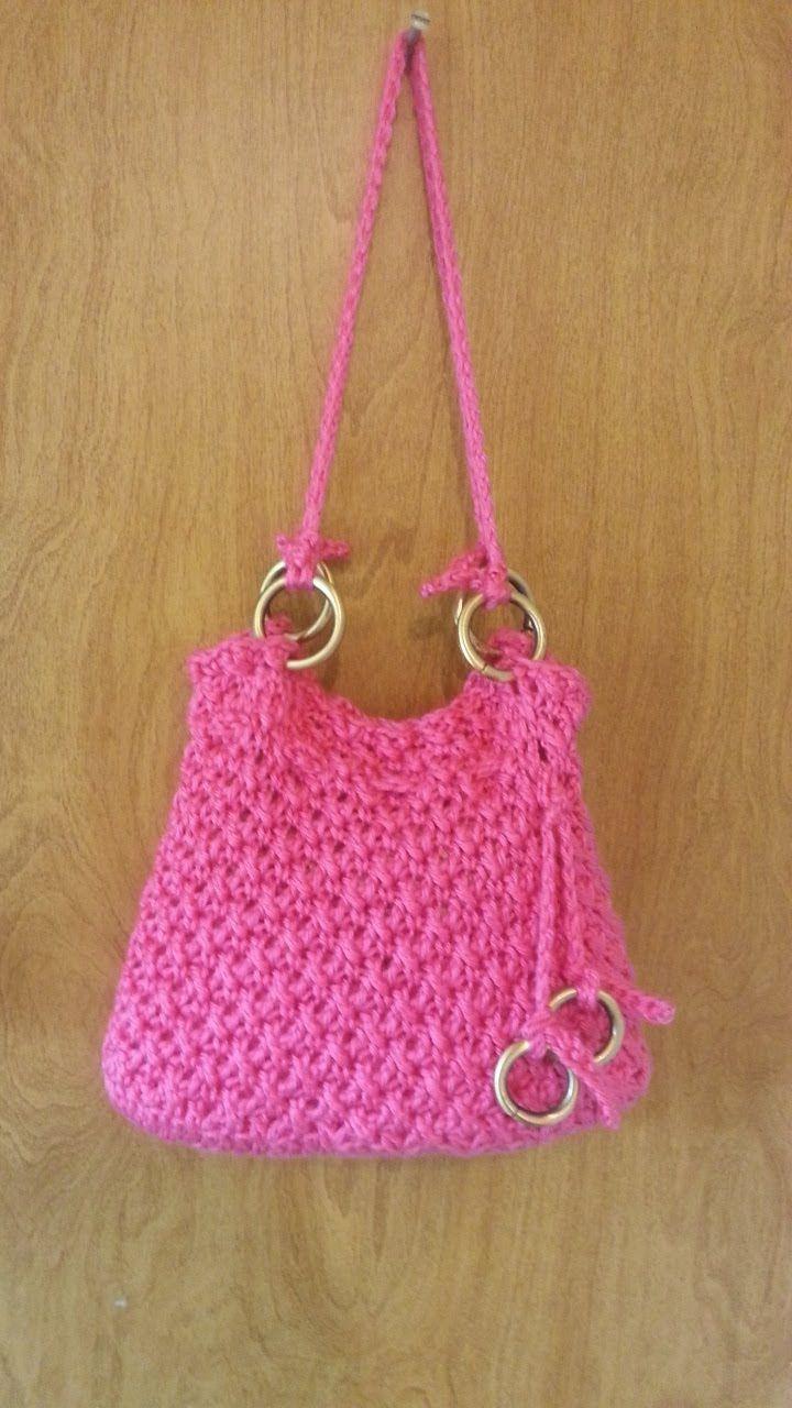 #Crochet Reverse V Stitch Handbag Purse #TUTORIAL