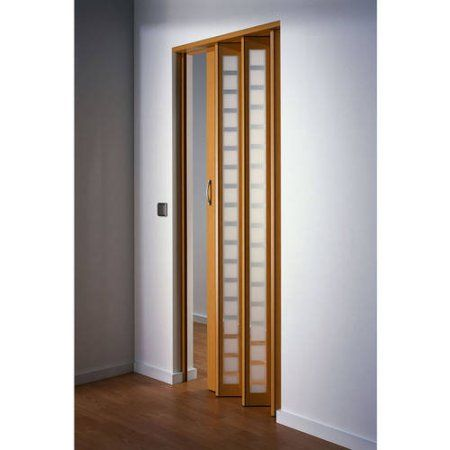 Metro Aluminum with Frosted Squares Folding Door, White