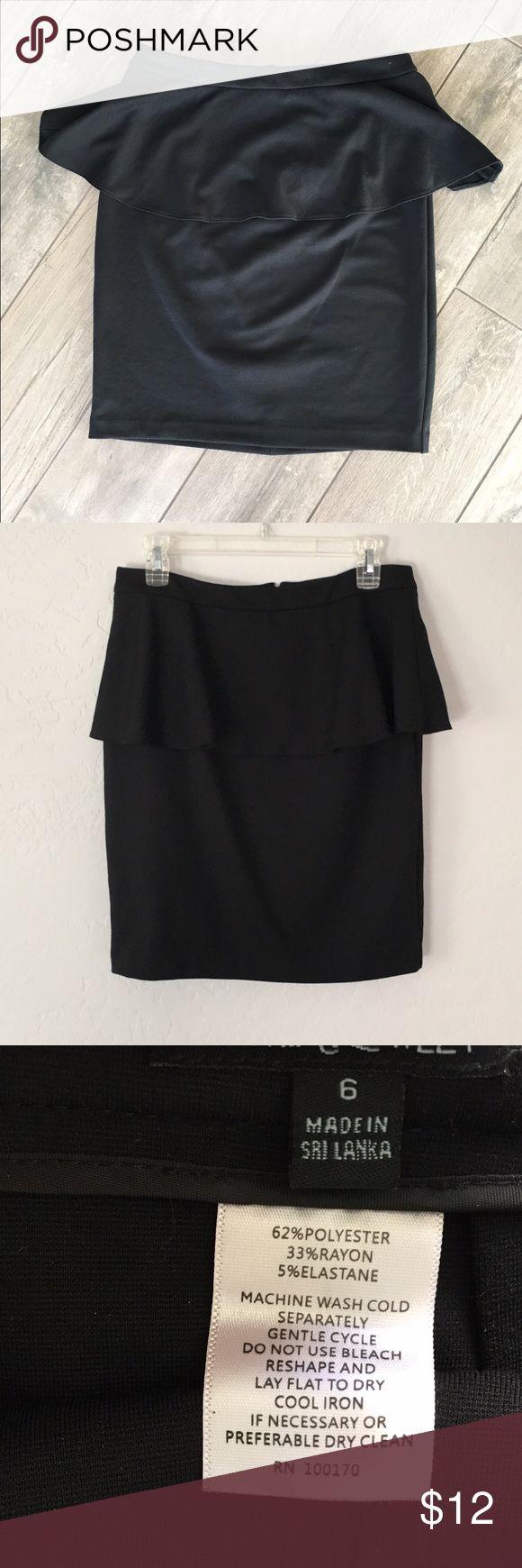 Cynthia Rowley peplum skirt Classic black peplum style skirt. Black zipper. Great thickness and not see through at all! Cynthia Rowley Skirts Midi