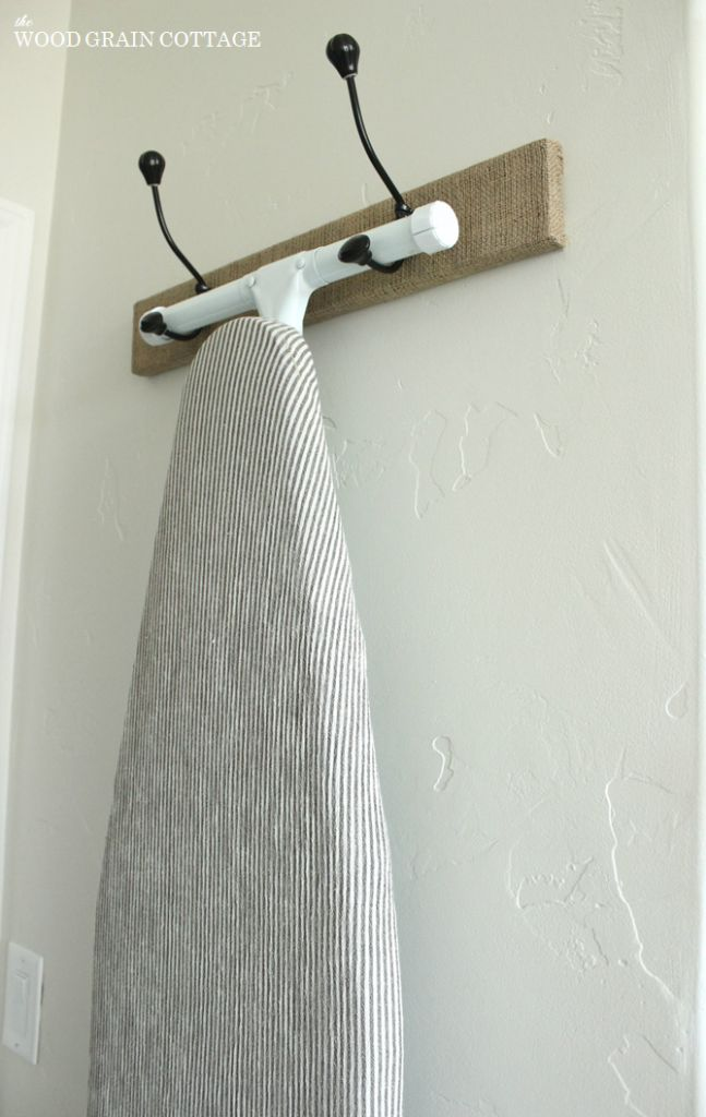 Hanging Ironing Board Rack   The Wood Grain Cottage