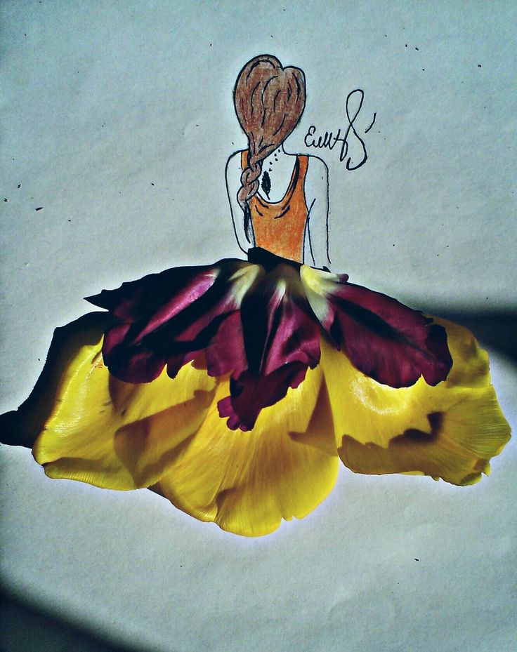 Платья цветы арт дизайн модель стиль мода красота