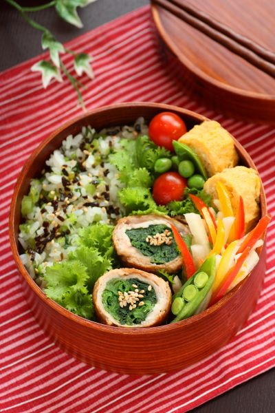 Love the colors of this bento #Japanese Bento Lunch