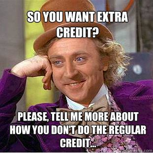 Why I don't give extra credit. http://www.teachermemes.com
