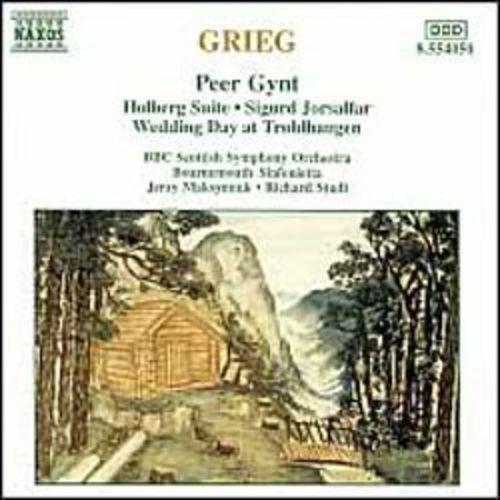 Grieg: Peer Gynt; Holberg Suite; Sigurd Jorsalfar; Wedding Day at Troldhaugen [CD]