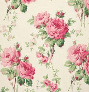 Pink roses fabric tilda