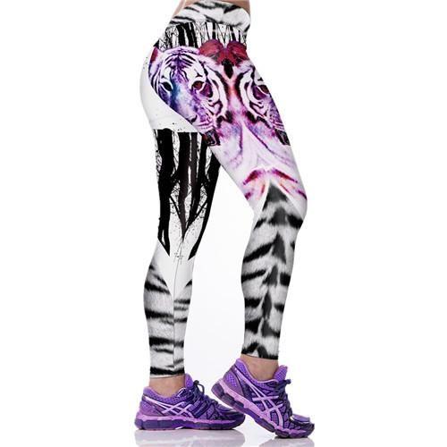 Print Women Legging Tiger Knitted Fitness 3D