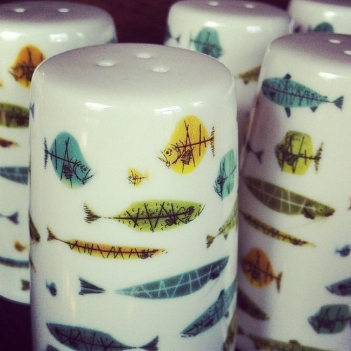 Charley Harper salt and pepper shakers! (Taken with Instagram at nest)