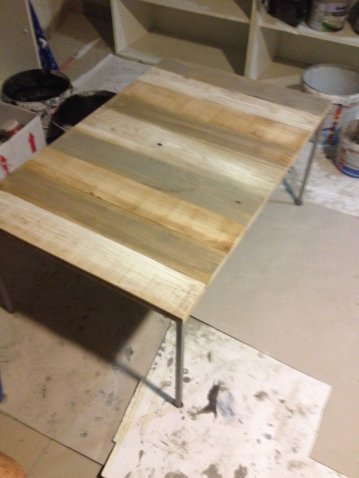 Different Colors On Wooden Table