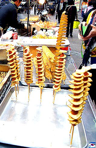 ✈ South Korean Street Food - Potato Chips on a Stick