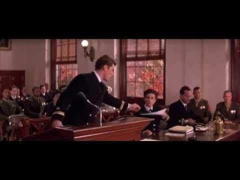 Surprisingly gripping: the courtroom scene from A Few Good Men with all the dialogue edited out