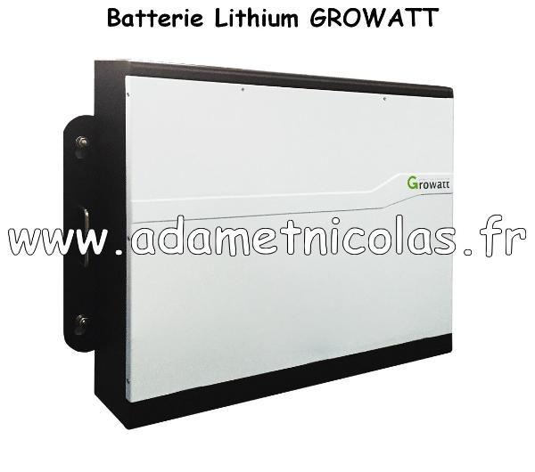 - Batterie stockage lithium 2.7kW/h GROWATT. Vente en ligne panneaux solaires Vosges - kits photovoltaïques - Installer Panneau Materiel Solaire