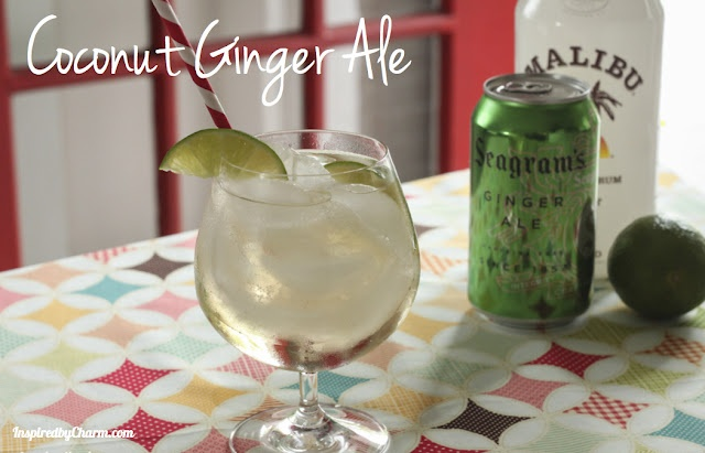 Coconut Ginger Ale - so simple, but OH so fabulous!: Summer Drinks, Malibu Rum, Coconut Gingers, Seagram Gingers, Coconut Rum, Gingers Ales, Cream Sodas, Simple Sip, Cocktails Recipes