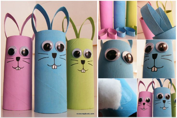 Toilet Paper Roll Bunnies!