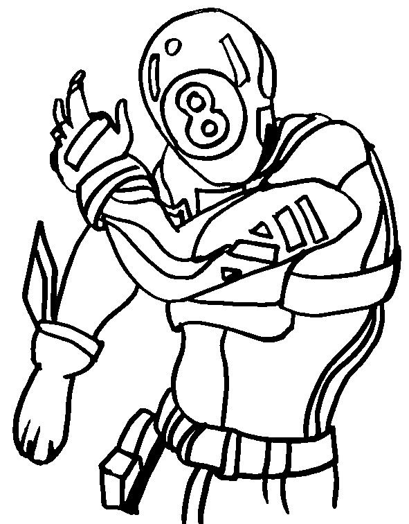 Coloring Page Fortnite Chapter 2 Season 1 8 Ball 1 In 2020 Cartoon Coloring Pages Coloring Pages Fortnite