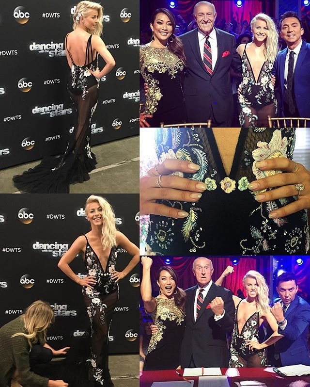 Behind the scenes of Julianne at #DWTS tonight! 😍💖 (September 19th 2016) #JulianneHough