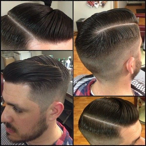 Pomade Hairstyles groom_room gentlemens haircut with a slick pompadour done by ralphv_groomroom and styled with suavecito 123 Best Hairstyles Images On Pinterest Mens Haircuts Hairstyles And Barber Shop