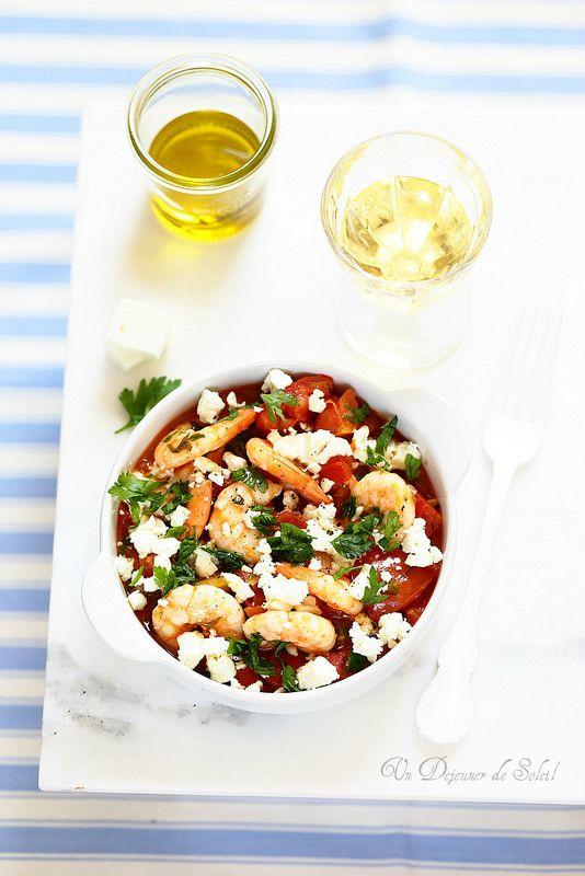 Un dejeuner de soleil: Crevettes saganaki