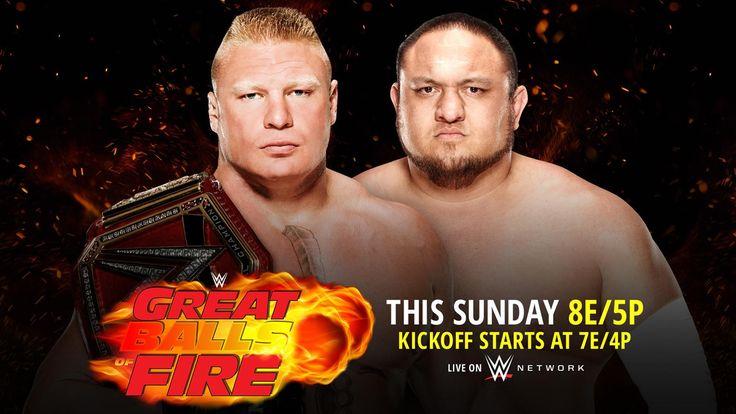 WWE Grandes Bolas de Fuego 2017 Resultados de partidos en Vivo Actualizaciones