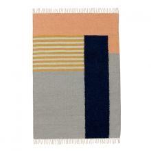 Teppich Kelim White Lines 140 x 200 cm von Ferm Living