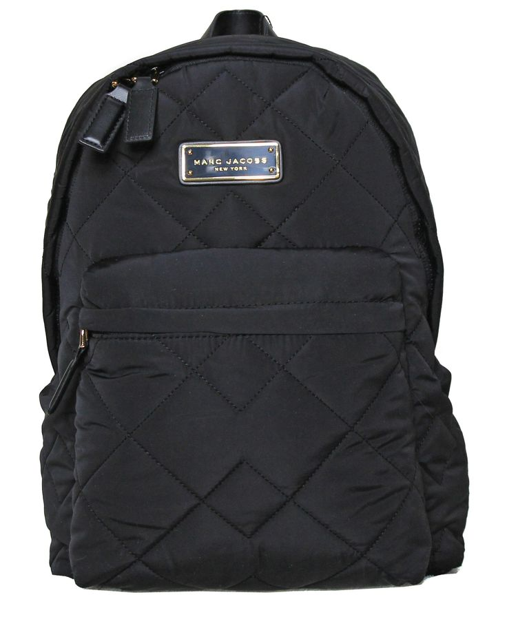 MARC JACOBS black quilted backpack M0011321
