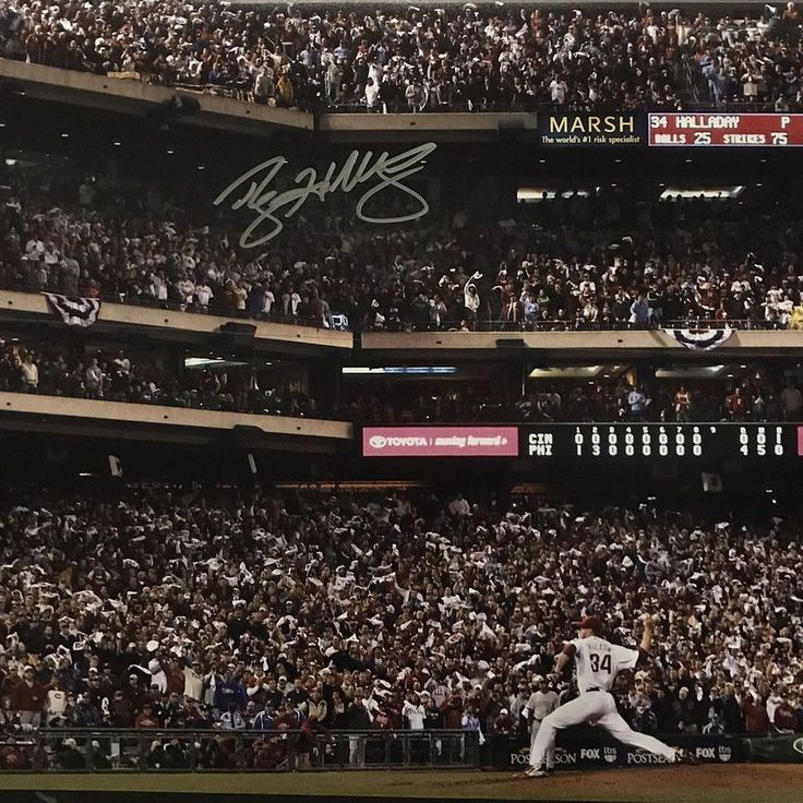 Brand new item in store and ready to ship... Roy Halladay Autographed 16x20 photo of his No Hitter with JSA Witness Certification. Rare and tough to find. Witness Certificate means a JSA representative was on site to see Roy sign the photo. RIP Doc Halladay. You will be missed! #royhalladay #philadelphia #phillies #toronto #philly #torontobluejays #bluejays #mlb #cyyoung #baseball #playoffs #nohitter #trueautographs