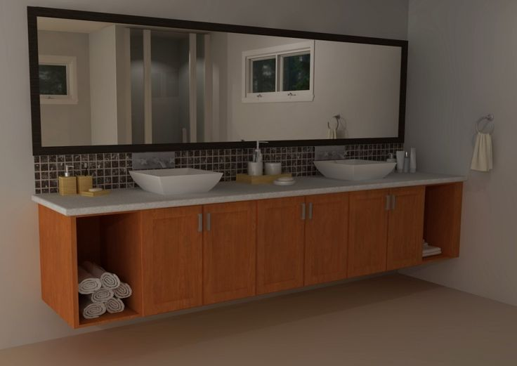 Ikea Floating Bathroom Vanity Using Kitchen Cabinets ...