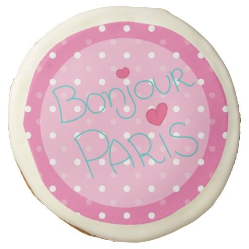 Girl's Pink Paris Birthday Party Sugar Cookie