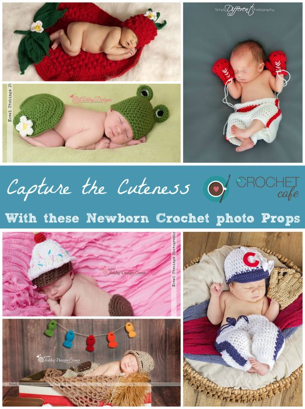 Crochet Patterns for Newborn Photo Props