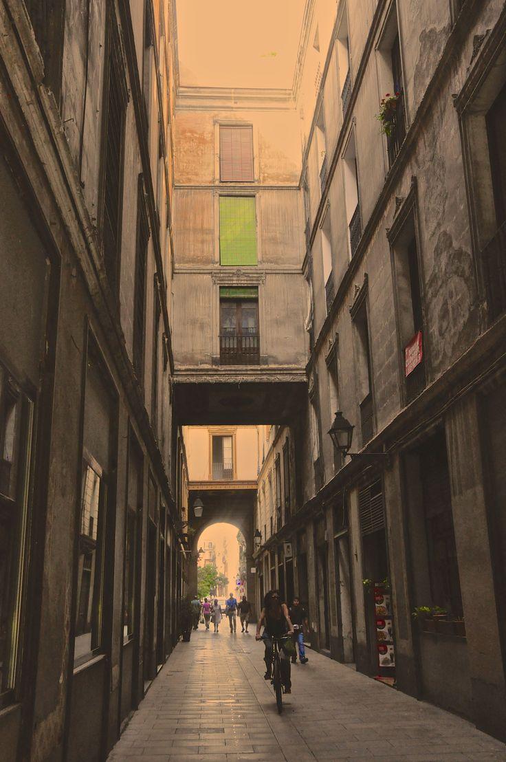 Alleyway in the El Raval district of Barcelona