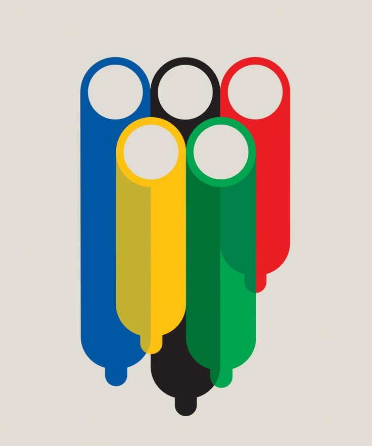 Sex in the Olympic Village, new illustration for ESPN magazine by Noma Bar