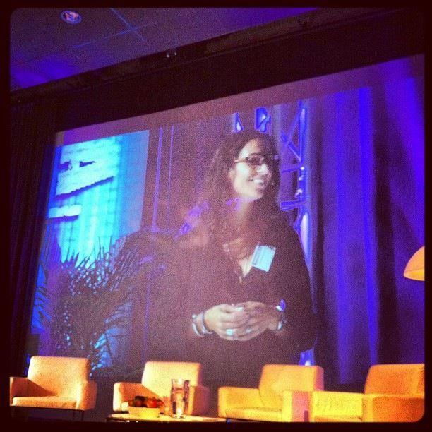 """Sarah Larsson Bernhardt om Pinterest 12 september 2012. """"Så använder du Pinterest till max. Min session på Webbdagarna."""""""