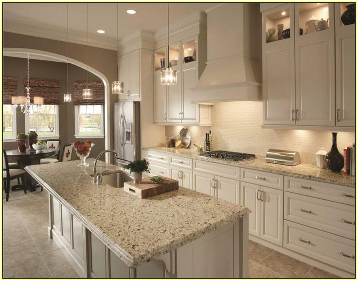 25 best images about counters on pinterest giallo for Pearl white kitchen cabinets